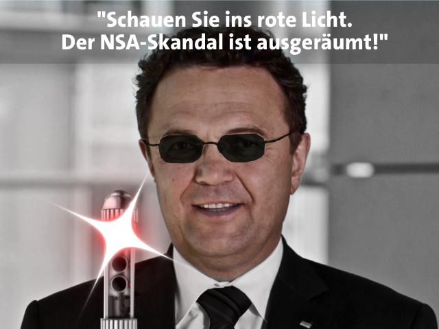 Bundesinnenminister Hans-Peter Friedrich versucht mit Neuland-Technik den Skandal auszublenden.