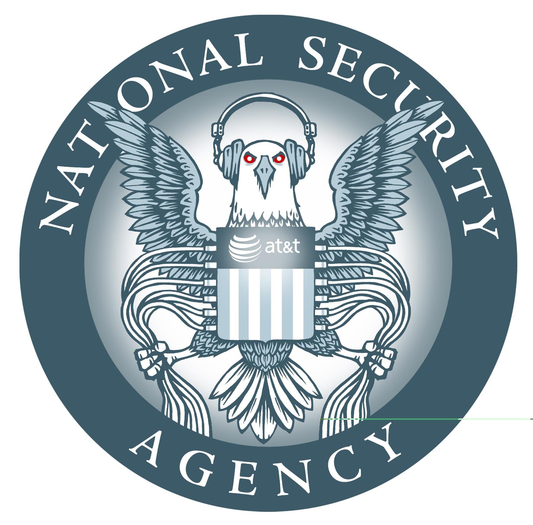 Angepasstes NSA-Logo von der EFF