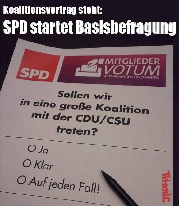 Symbolbild: so könnte der Stimmzettel aussehen. Bildquelle: Internet.