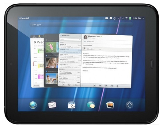 Das HP TouchPad mit WebOS.