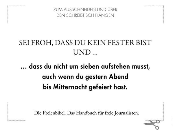 Motivationsspruch für die Freischreiber. Quelle: Twitter-Account der Freischreiber.