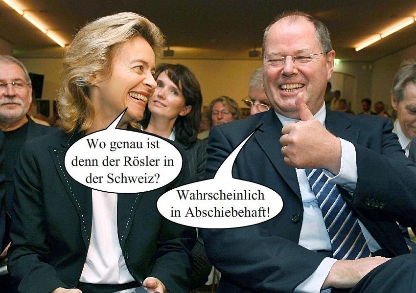 Fotowitz Leyen/ Steinbrück