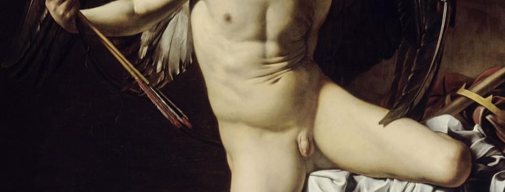 """Michelangelo Merisi da Caravaggio """"Amor als Sieger"""" aus dem Jahre 1602 im Detail."""