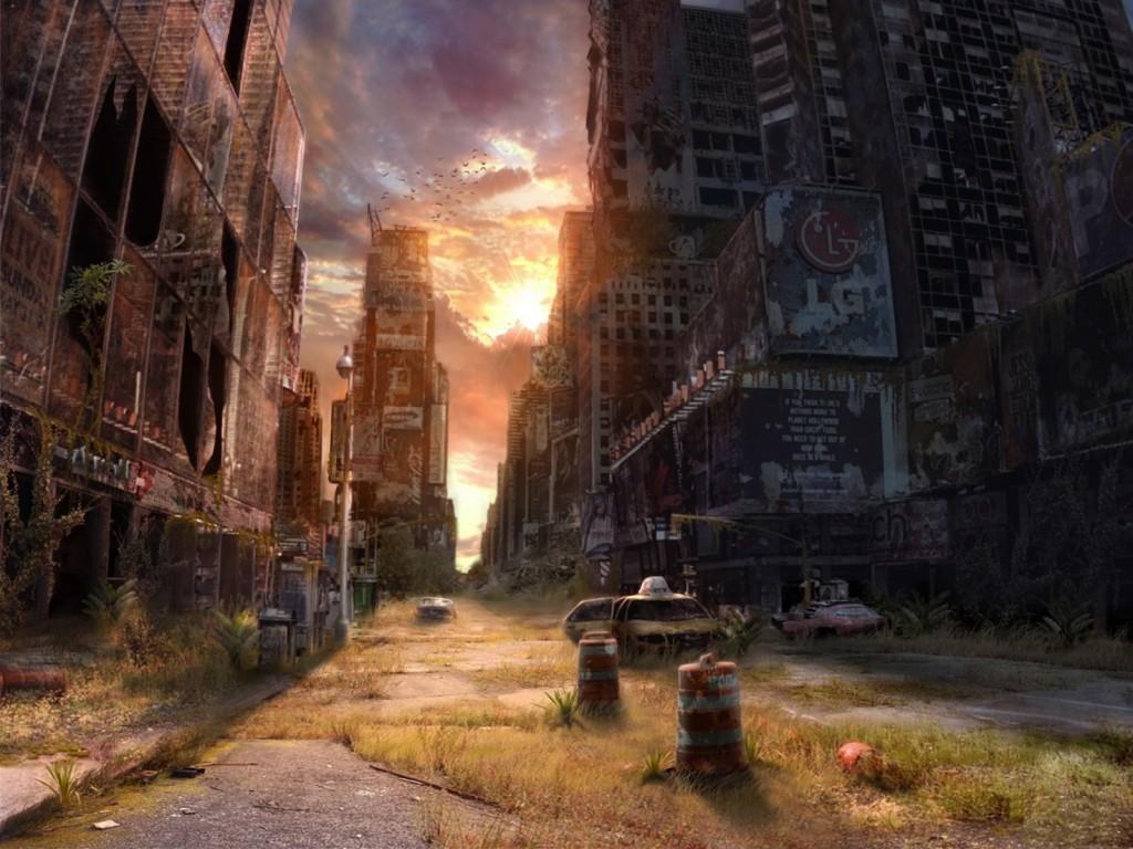 Symbolbild: die Zukunft der Erde ohne Menschen.