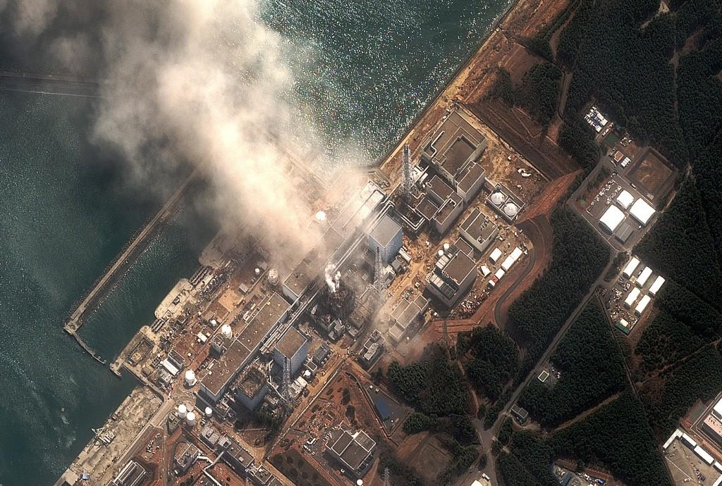 Satellitenaufnahme von Fukushima nach der Katastrophe 2011.