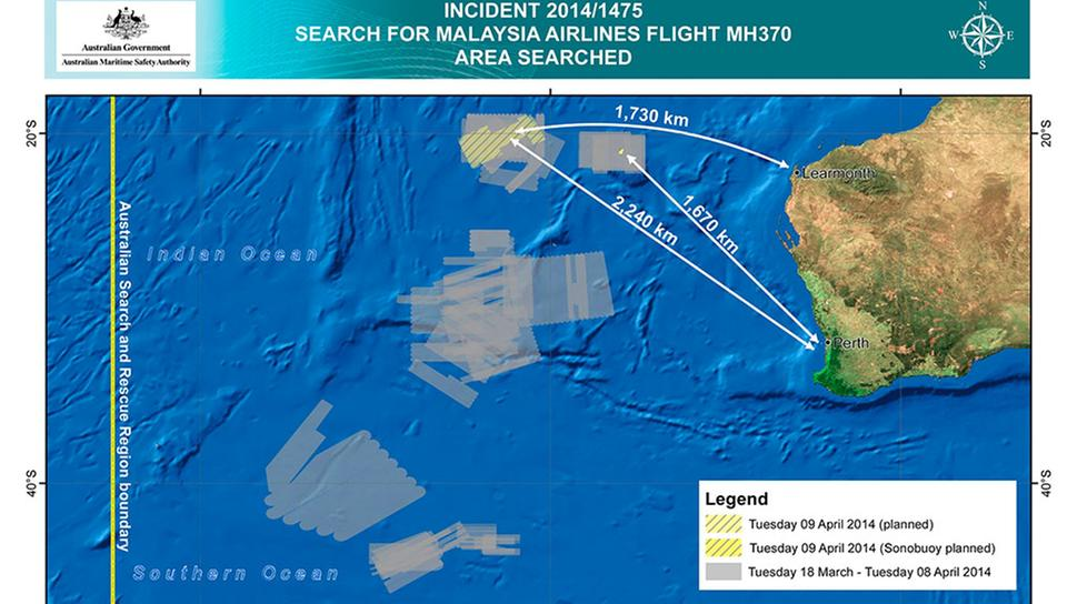 MH370 doch vielleicht wo anders