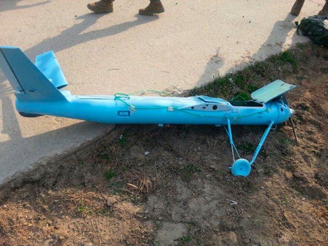 Das Foto des südkoreanischen Militärs zeigt die abgestürzte Drohne aus Nordkorea.