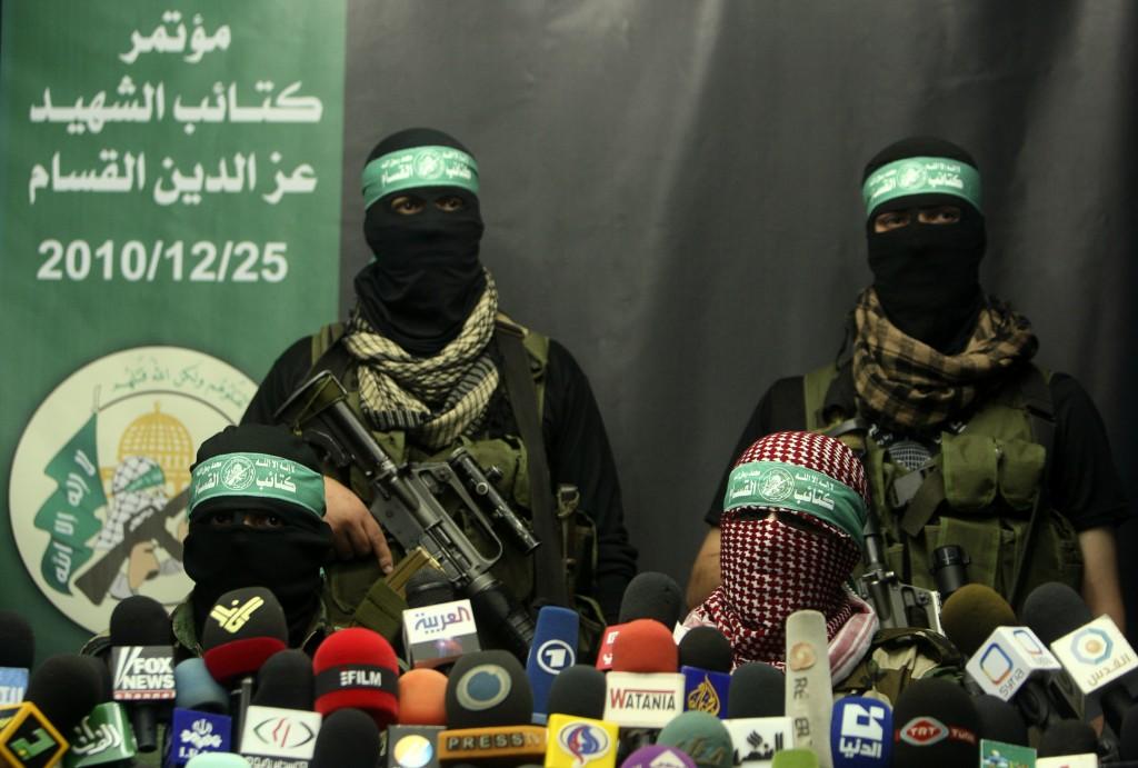 Symbolbild: Pressekonferenz der Al-Qassam Brigade in Gaza City 2010.