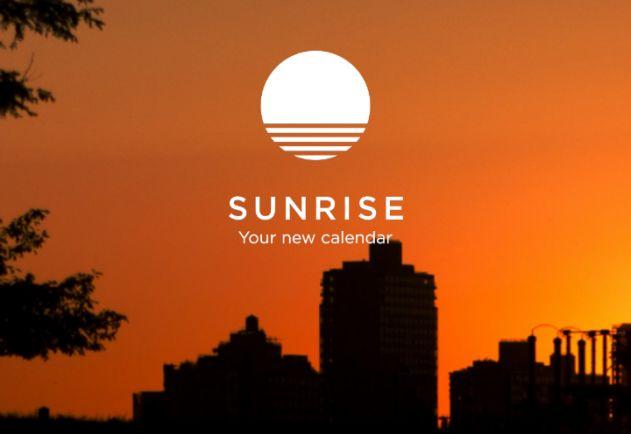 Kalender-App: Sunrise Calendar
