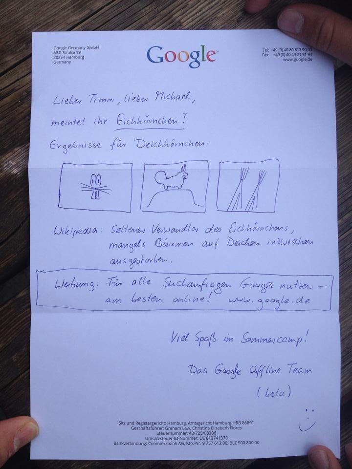 google_offline_antwort