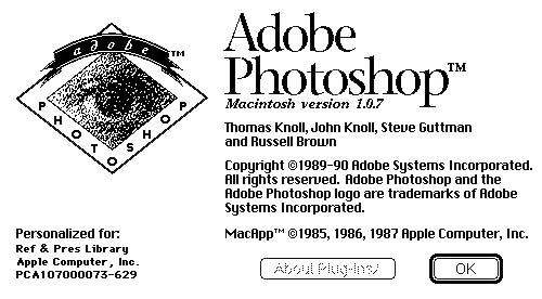 Seit Adobe Photoshop 1.0.7 ist einiges passiert.