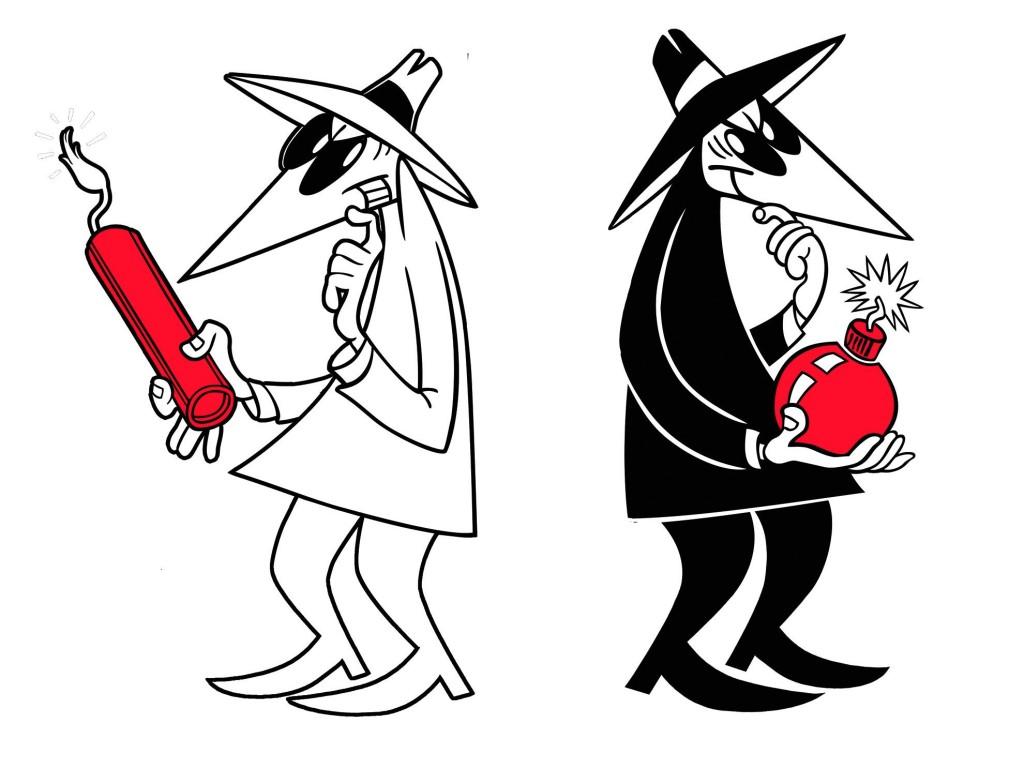 Symbolbild: wenn Spione sich nicht grün sind. Aus dem Mad-Brettspiel.