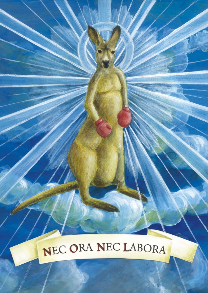 """Ein Känguru aus den grandiosen """"Die Känguru-Offenbarung"""" und dessen Ideologie."""