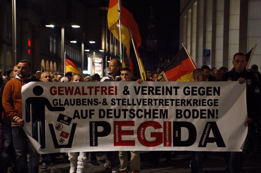 Pegida-Demonstranten wollen in der Presse nicht vorgeführt werden