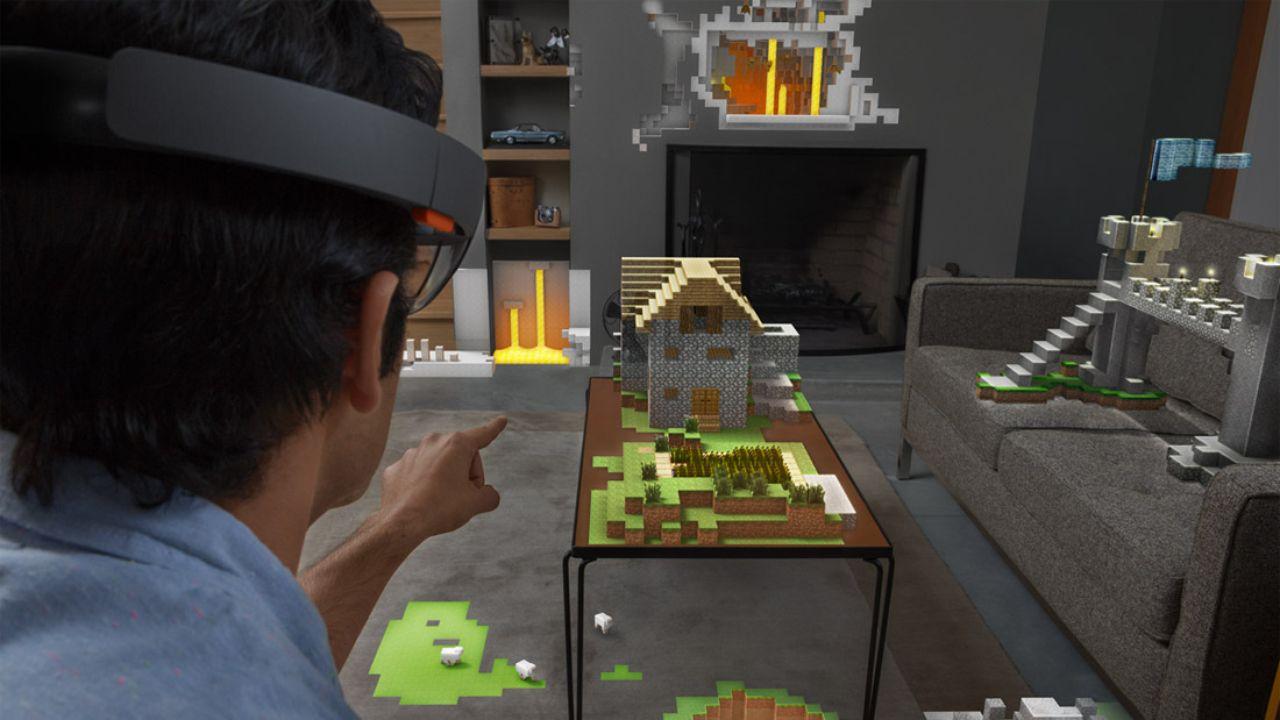 Microsoft Minecraft via Hololens AR-Brille