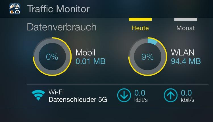 App-Tipp: Traffic Monitor mit iOS-Widget