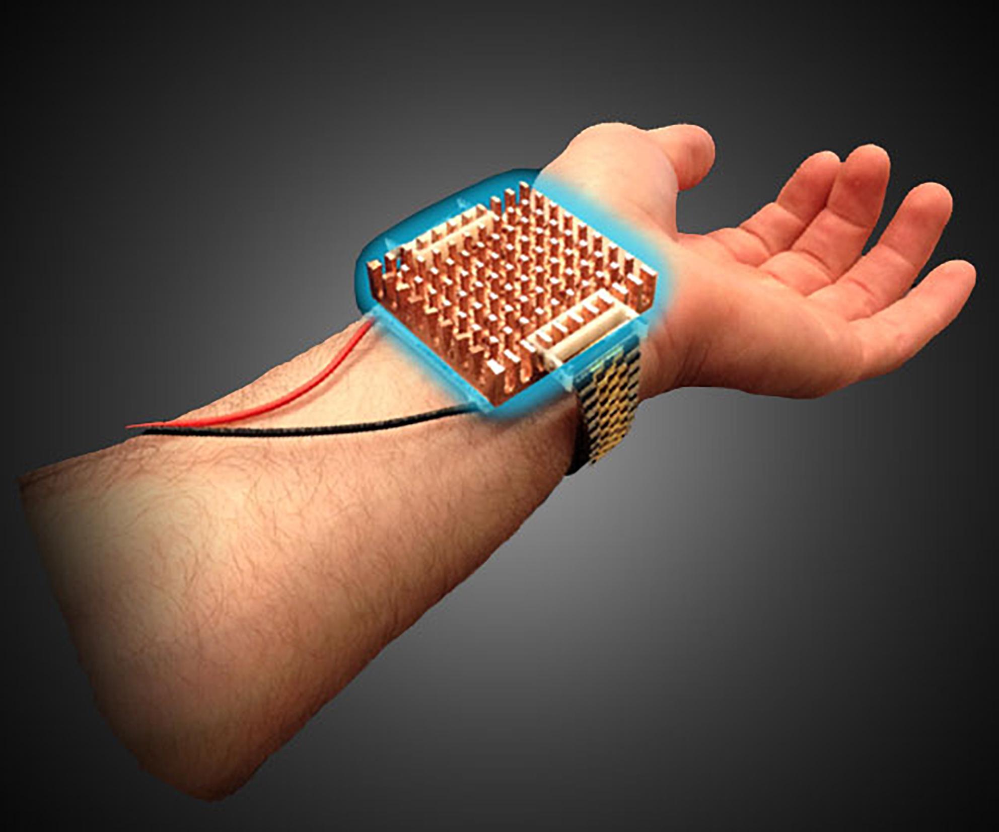 Armband das Wärme- und Kälteempfinden des Körpers beeinflusst