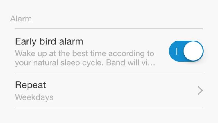 MiBand Alarm