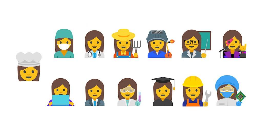 Neue Emoji mit arbeitenden Frauen