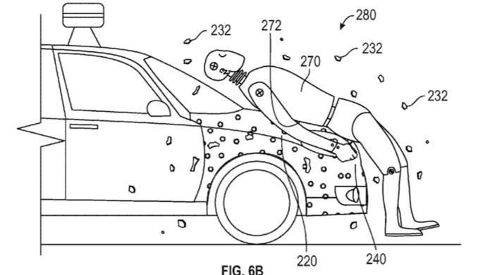 Klebschicht schützt Fußgänger bei Autounfall