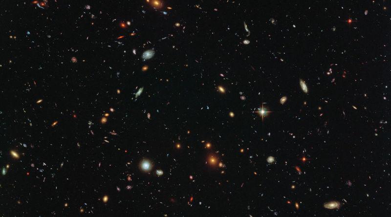 Symbolbild: Im Weltraum ist die Hölle los. Hier sieht man lauter Galaxien - keine Planeten.