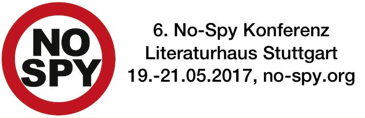 6. No-Spy Konferenz im Literaturhaus Stuttgart