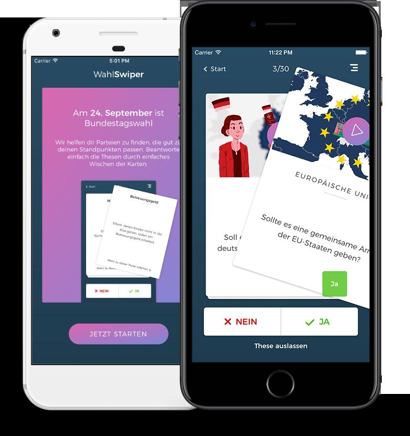 Wahlentscheidungs-App à la Tinder