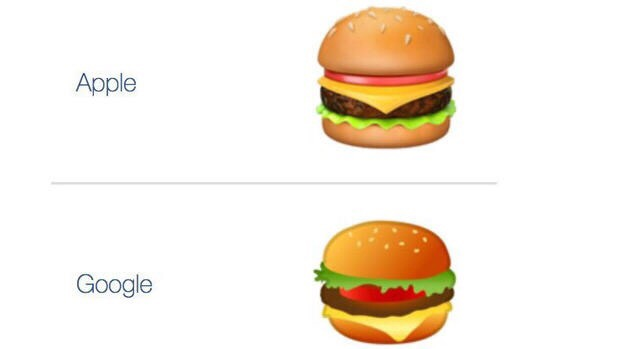 Wie wird ein Hamburger belegt? Emoji-Gate